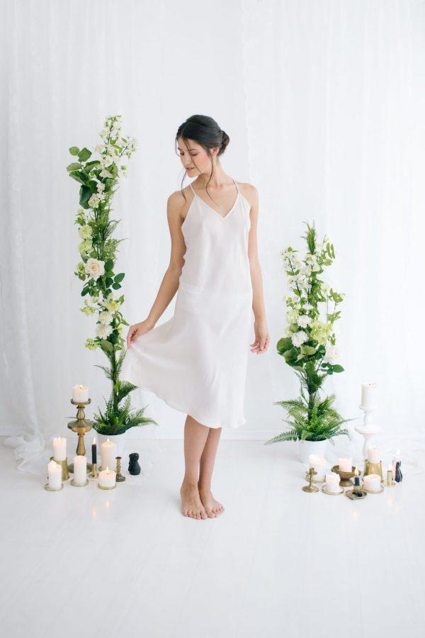 Celine Silk Satin Slip Ivory