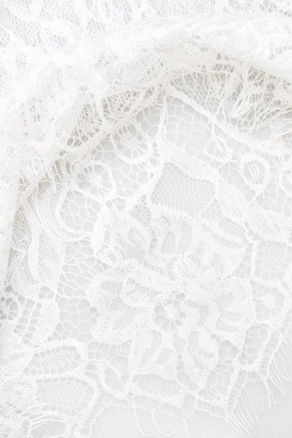 Anne Short Silk Robe in Ivory