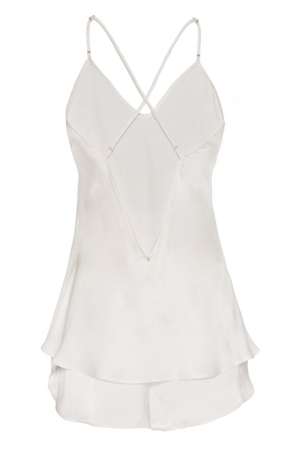 Chloe Silk Shorts and Cami in Ivory